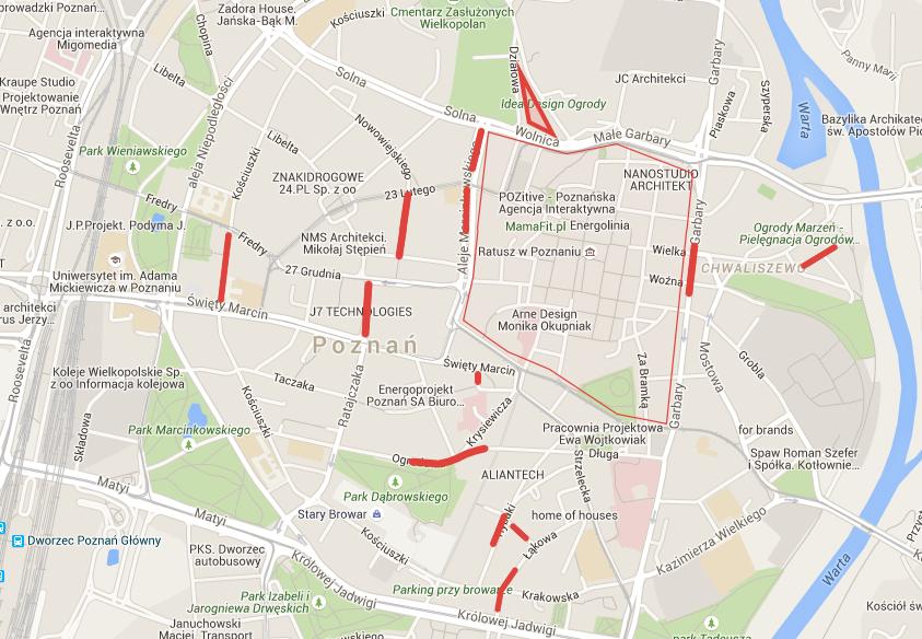mapa parkingi