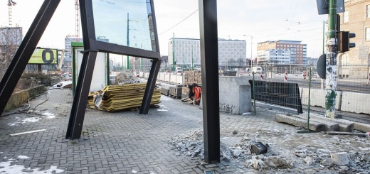 Uszkodzona instalaja prof. Berdyszaka przy Kaponierze
