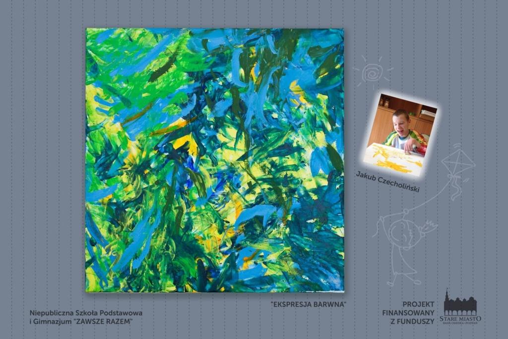 Prace młodych artystów - wystawa na skwerze Lukaszewicza (11)