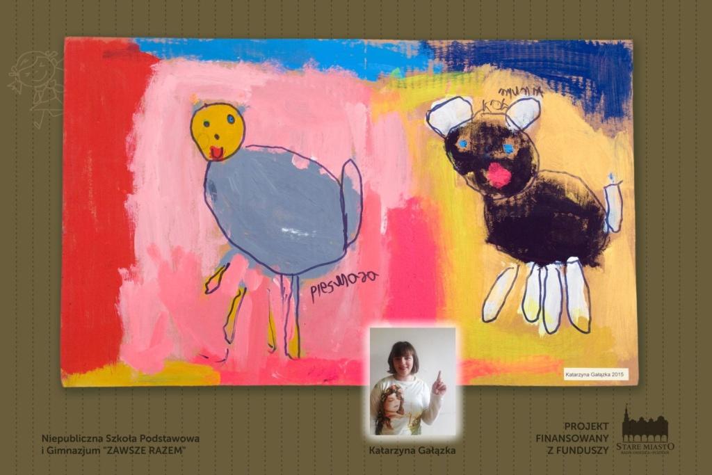 Prace młodych artystów - wystawa na skwerze Lukaszewicza (3)