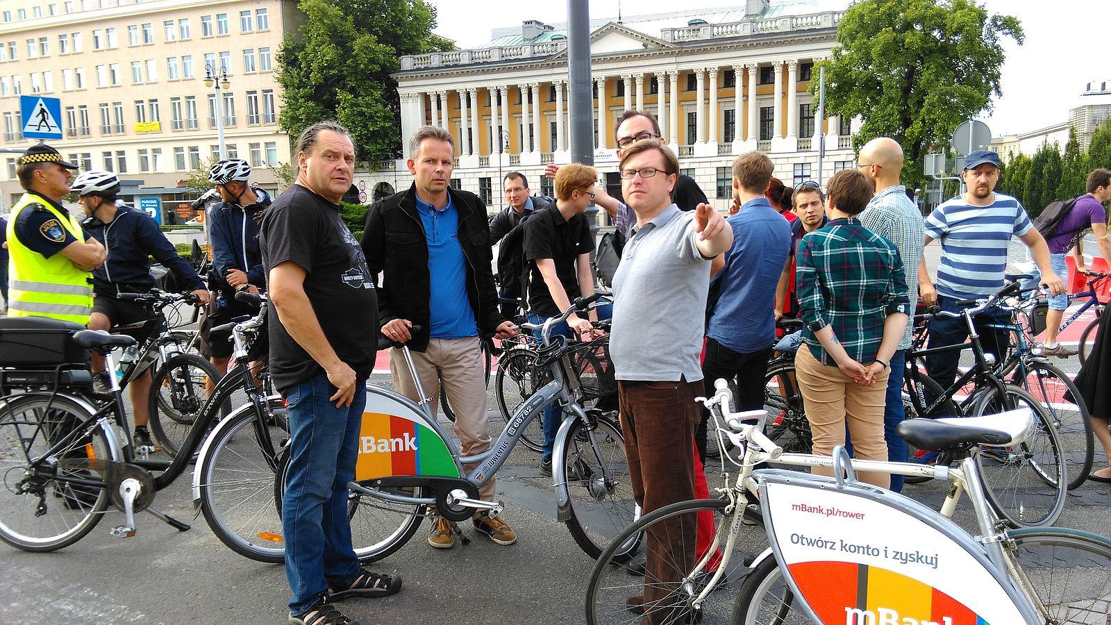 Patrol rowerowy, fot. Tomasz Dworek