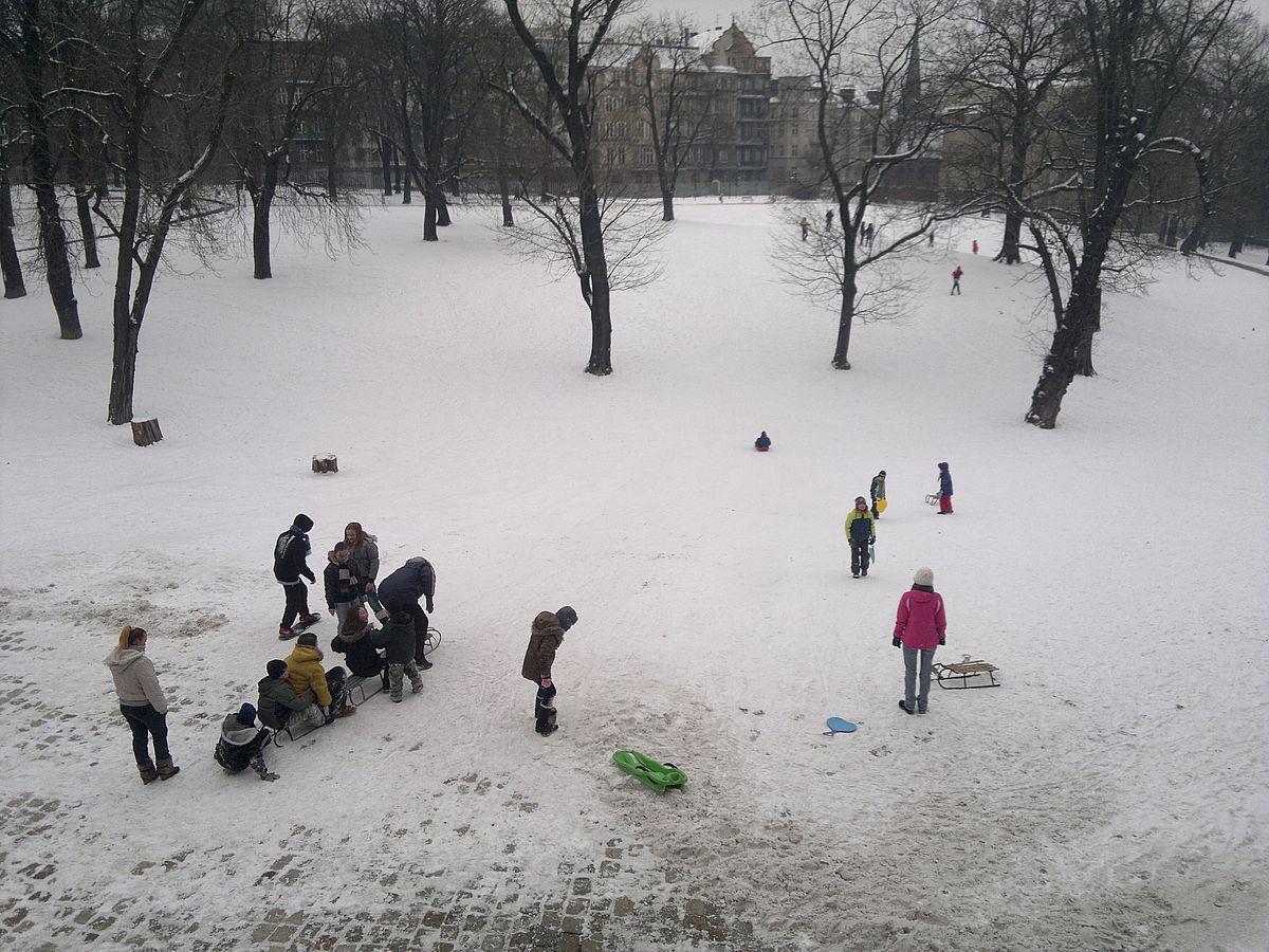 Zima w parku przy Starym Browarze, fot. Tomasz Dworek